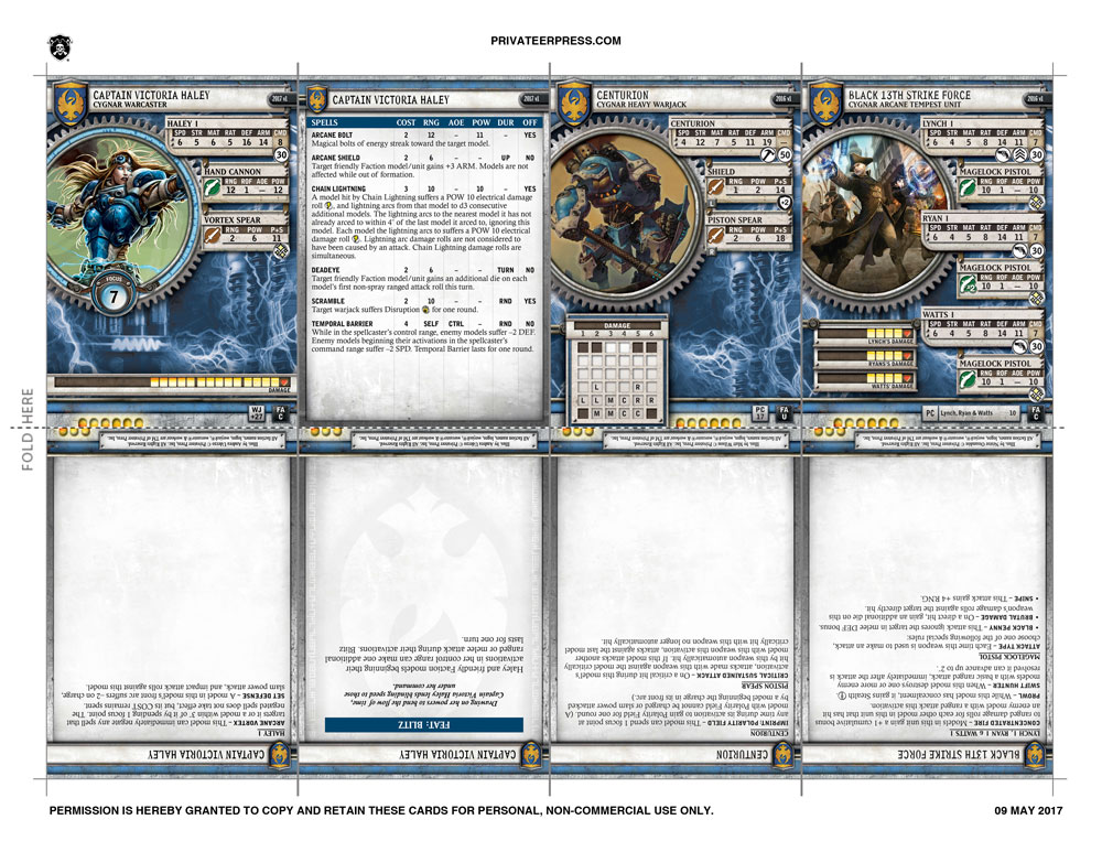 Card Database | Privateerpress com